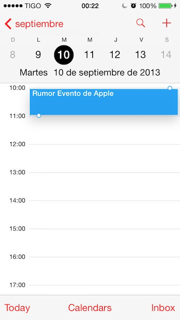 Rumor Evento de Apple