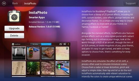 Instaphoto el Instagram de Blackberry