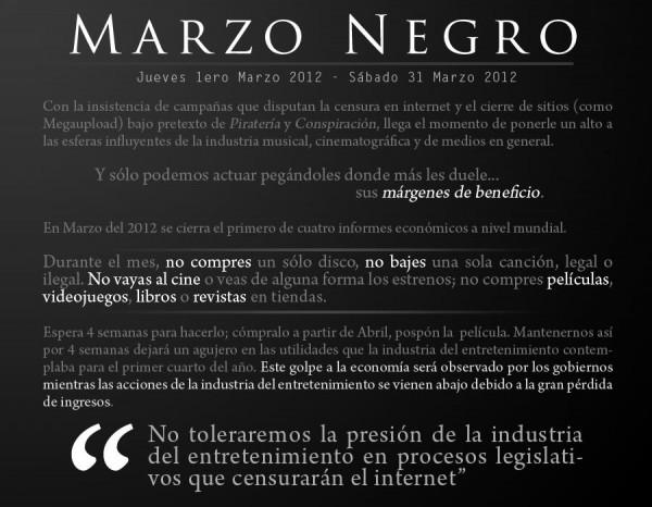 Operación Marzo Negro por parte de Anonymous