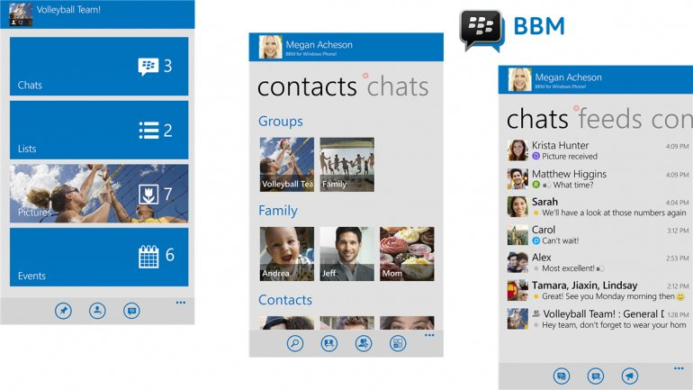 Blackberry Messenger Windows Phone