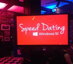 Windows 10 Speed Dating