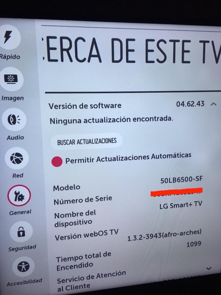 1 Actualización LG WebOS