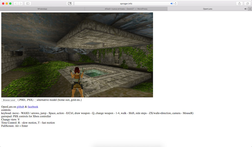 OpenLara Tomb Raider 1