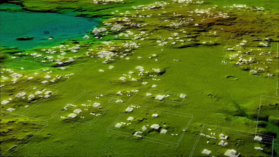 Estructuras reveladas por LIDAR - National Geographic Tesoros Perdidos mayas